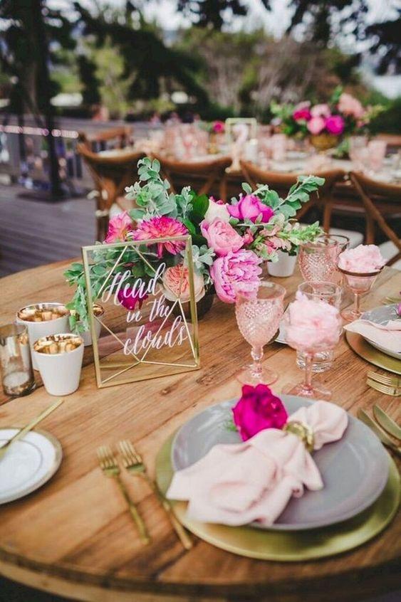 tiệc cưới ngoài trời phong cách vintage