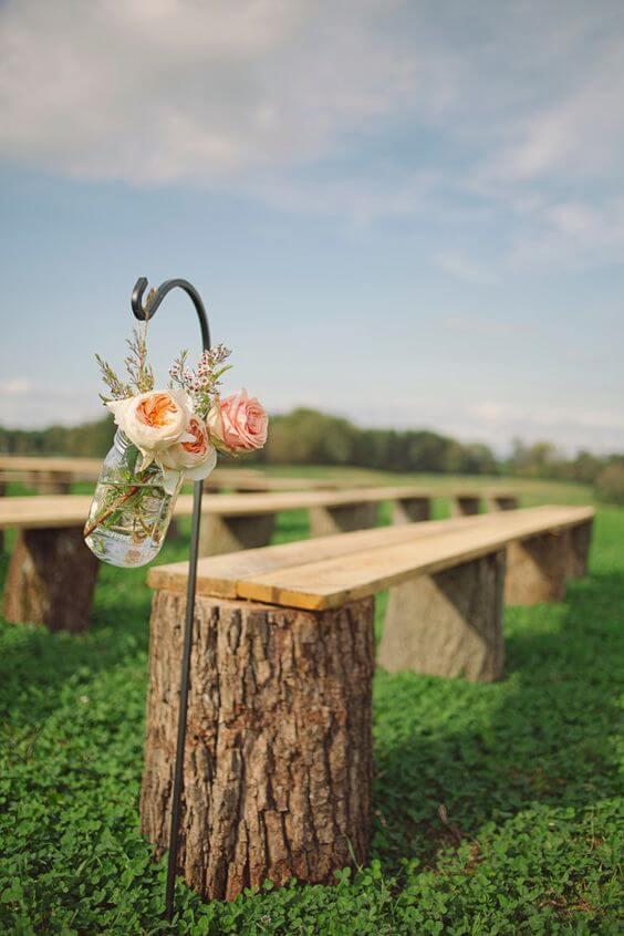 tiệc cưới ngoài trời rustic